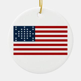 33 flagga för inbördeskrig för stjärnafortSumter a Julgranskula