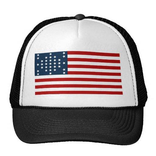 33 flagga för inbördeskrig för stjärnafortSumter a Baseball Hat