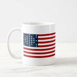 33 flagga för inbördeskrig för stjärnafortSumter a Kaffe Kopp