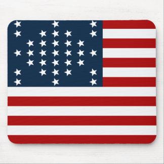 33 flagga för inbördeskrig för stjärnafortSumter a Mus Matta