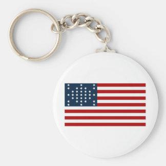 33 flagga för inbördeskrig för stjärnafortSumter a Nyckel Ring