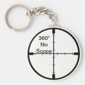 360 ingen keychain för räckviddvideospelskämt FPS Rund Nyckelring