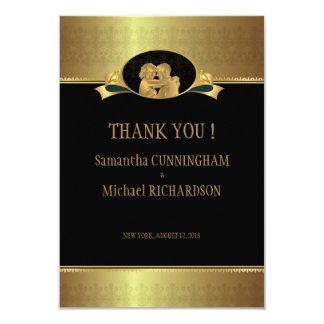 """3,5"""""""" guld- elegantt lyxigt stilfullt bröllop x5 8,9 x 12,7 cm inbjudningskort"""