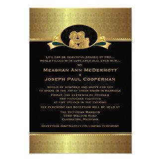 3 5 x 5 guld- elegantt lyxigt modernt bröllop