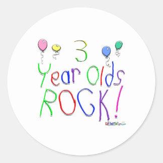 3 år - oldssten! Klistermärke
