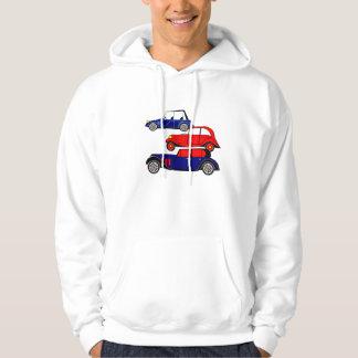 3 bilar - virtuella bilar hoodie