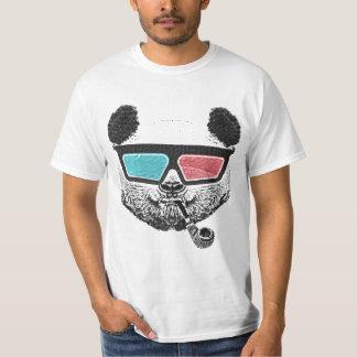 3-D exponeringsglas för vintagepanda T-shirt