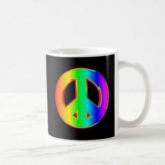 3-D regnbågefredstecken #1 Kaffemugg