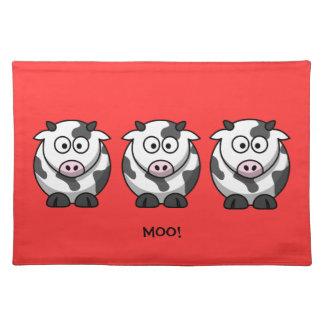 3 feta tecknadkor för rolig runda med den rosa näs bordstablett