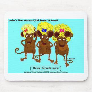 3 för utslagsplatsmuggar för blonda möss roliga musmatta