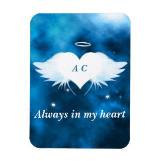 """3"""""""" magnet för foto x4 - ängel av hjärtan"""