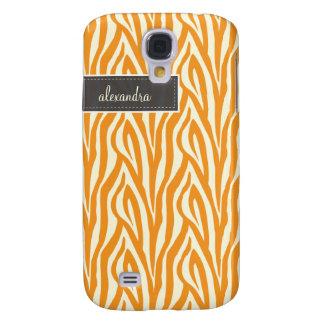 3 sebra Pern (orangen) Galaxy S4 Fodral
