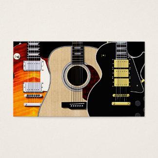 3 tomma gitarrer visitkort
