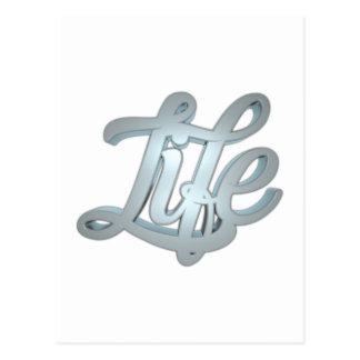 3d Calligraphy - liv Vykort