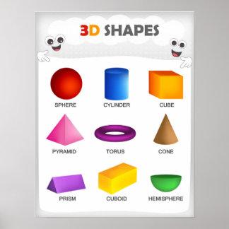 3D formar back to schoolungar Poster