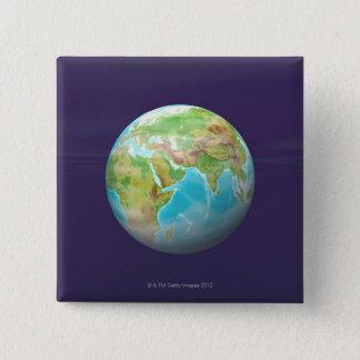 3D jordklot 11 Standard Kanpp Fyrkantig 5.1 Cm