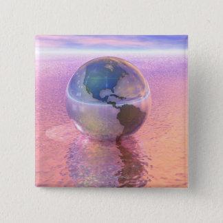 3D jordklot 12 Standard Kanpp Fyrkantig 5.1 Cm