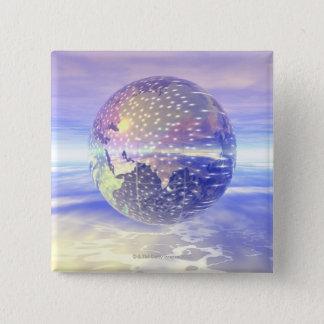 3D jordklot 13 Standard Kanpp Fyrkantig 5.1 Cm