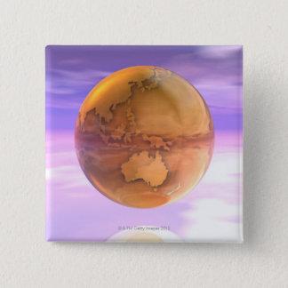 3D jordklot 14 Standard Kanpp Fyrkantig 5.1 Cm