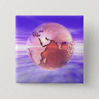 3D jordklot 17 Standard Kanpp Fyrkantig 5.1 Cm