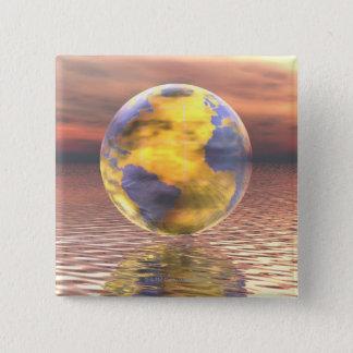 3D jordklot 19 Standard Kanpp Fyrkantig 5.1 Cm
