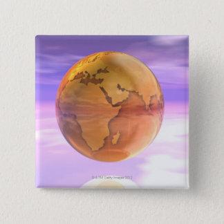 3D jordklot 2 Standard Kanpp Fyrkantig 5.1 Cm