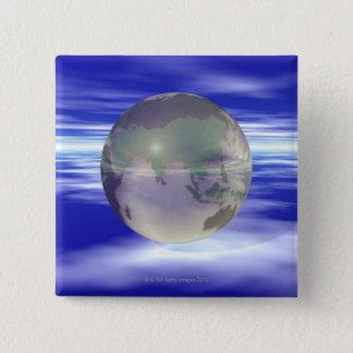 3D jordklot 3 Standard Kanpp Fyrkantig 5.1 Cm