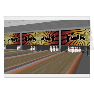3D modellerar: Bowlingbana: Hälsningskort