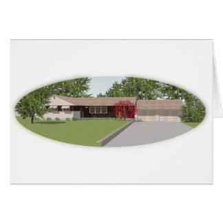 3D modellerar: Ranchstilhus: Hälsningskort