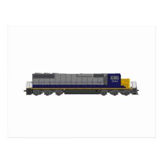 3D modellerar: Tågmotor: Järnväg: Vykort