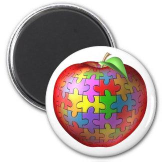 3D pussel Apple Magnet Rund 5.7 Cm