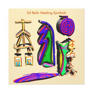 3d Reiki som läker symboler Canvastryck