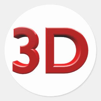 3D RUNT KLISTERMÄRKE