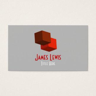 3D skära i tärningar logotypvisitkorten Visitkort