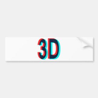 3D tre dimensionerar design Bildekal