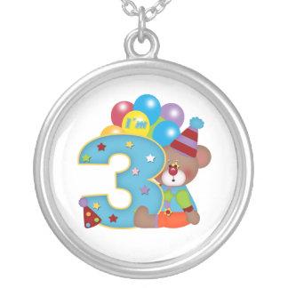 3rd Födelsedag för födelsedagclownbjörn Smycken