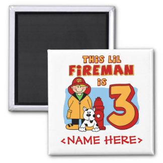 3rd födelsedag för Lil brandman Magnet