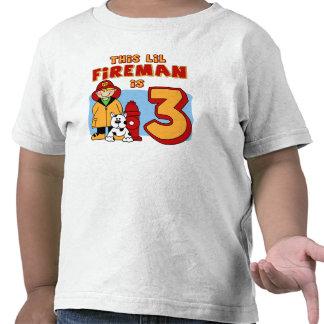 3rd födelsedag för Lil brandman T-shirt