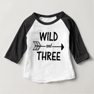 3rd födelsedagskjorta för vild och för tre pil t shirt