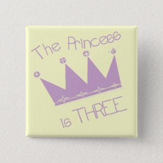 3rd födelsedagTshirts och gåvor för Princess Kröna Standard Kanpp Fyrkantig 5.1 Cm