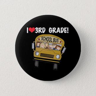 3rd klass för skolbusskärlek standard knapp rund 5.7 cm