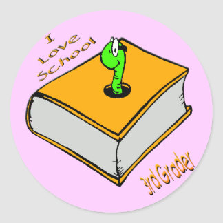 3rd väghyvel för bokmal - jag älskar skolar runt klistermärke