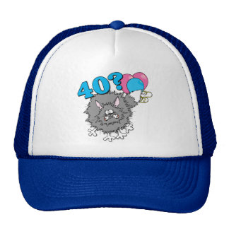 40 födelsedag kattgåva trucker kepsar