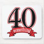 40 något 40th födelsedag musmatta