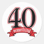 40 något 40th födelsedag runt klistermärke
