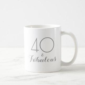 40 och sagolik födelsedaggåvamugg kaffemugg
