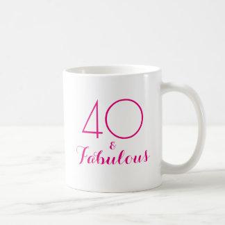 40 och sagolika 40th rosor för födelsedaggåvamugg kaffemugg