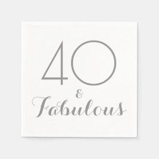 40 och sagolika partyservetter pappersservetter