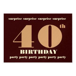 40th - 49th ÖVERRRAKNINGfödelsedagsfest inbjudan