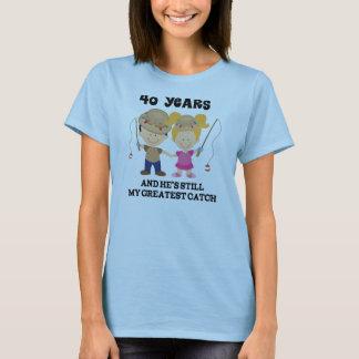 40th Bröllopsdaggåva för henne T-shirts